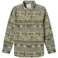 Penfield Leeson Nordic Print Shirt Green