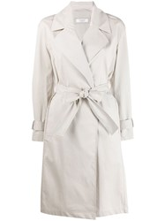 Peserico Belted Trench Coat Neutrals