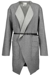 Joie Calia Belted Wool Blend Coat Gray