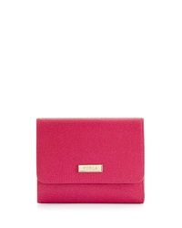 Furla Classic Leather Tri Fold Wallet Pink Gloss