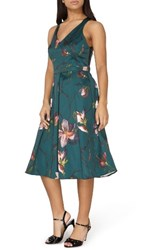 Dorothy Perkins Women's Fit And Flare Dress Green