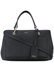 Dkny Top Handle Tote Women Leather One Size Black
