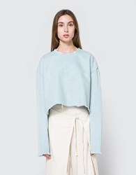 Ashley Rowe Long Sleeve Tee In Light Denim Super Light