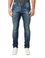 Buffalo David Bitton Straight Leg Slim Fit Jeans Blue