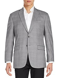 Calvin Klein Plaid Wool Sportcoat Grey