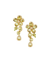 Roberto Coin 18K Yellow Gold Spring Peridot Dangle Earrings Women's