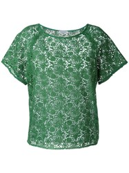 P.A.R.O.S.H. Embroidered Lace Blouse Green