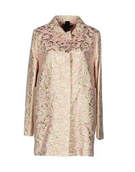 Femme By Michele Rossi Overcoats Pink