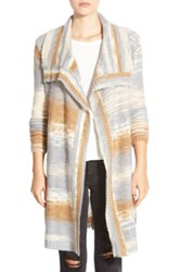 Element 'Joni' Drape Front Multicolor Cardigan Brown