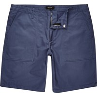 River Island Mensblue Casual Slim Fit Bermuda Shorts