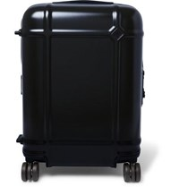 Fabbrica Pelletterie Milano Globe Spinner 55Cm Leather Trimmed Polycarbonate Carry On Suitcase Navy