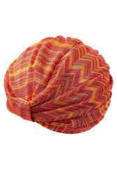Missoni Mare Crochet Knit Turban Orange