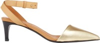 See By Chloe Two Tone Ankle Strap Pumps Gold