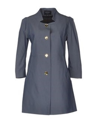 Giuliano Fujiwara Full Length Jackets Dark Blue