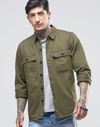 Another Influence Chest Pocket Shirt Green