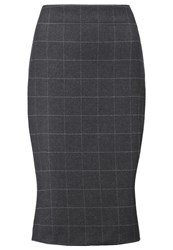 More And More Pencil Skirt Dark Steel Anthracite