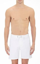 Sundek Men's Solid Swim Trunks White