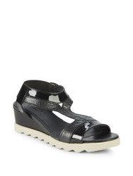 The Flexx Give A Hoot Wedge Sandals Black