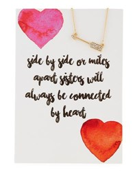 Lydell Nyc Arrow Necklace With Heart Sisters Card