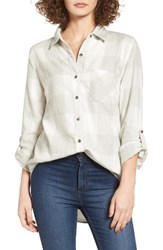 Thread And Supply Women's Bexley Plaid Shirt Heather Grey White