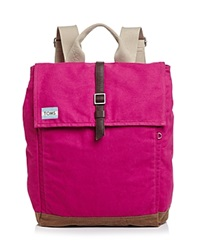Toms Backpack Trekker Excursion Waxed Canvas Dusty Pink Canvas