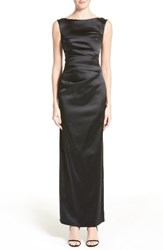 Talbot Runhof Women's Stretch Satin Column Gown