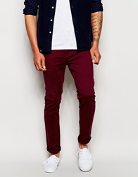 Farah Slim Jeans Bordeaux