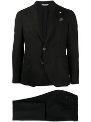 Manuel Ritz Two Piece Single Breasted Suit Black