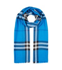 Burberry Shoes And Accessories Gauze Giant Check Scarf Female Cobalt