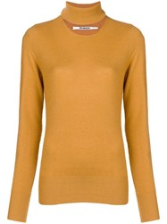 Chalayan Split Neck Sweater Yellow And Orange