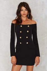 Nasty Gal Jackie Off The Shoulder Mini Tux Dress