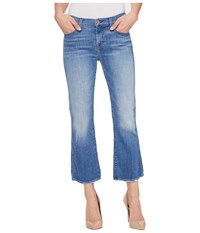 7 For All Mankind Cropped Boot W Grinded Hem In Adelaide Bright Blue Adelaide Bright Blue Women's Jeans