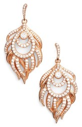 Kendra Scott Women's Emelia Drop Earrings White Cz Rose Gold