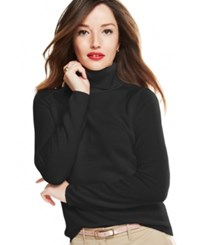 Charter Club Cashmere Turtleneck Sweater In 15 Colors Only At Macy's Classic Black