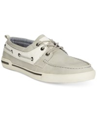 Unlisted Men's Anchor Shot Boat Shoes Men's Shoes Grey White