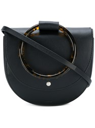 Theory Tortoiseshell Handle Shoulder Bag Black