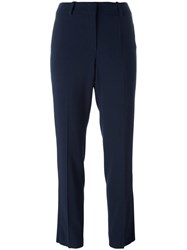Armani Collezioni Classic Tailored Trousers Blue