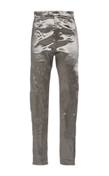 Isabel Marant Silver Nevada Slim Fit Shiny Trousers