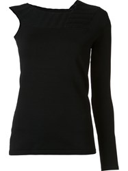 Jonathan Simkhai Asymmetric Stretch Jumper Black