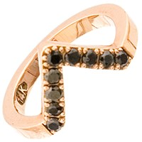 Haathi House Black Diamond Triangle Ring Rose Gold