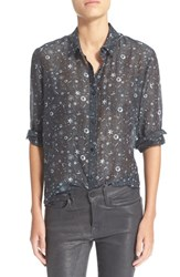 Women's The Kooples Tattoo Print Crepe De Chine Shirt