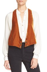 Free People Women's 'Velvet Vibes' Vest Honey
