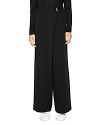 Ted Baker Says Relax Yasin Wide Leg Wrap Front Pants Black
