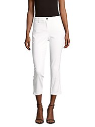 Basler Solid Cropped Capri Pants Optic White