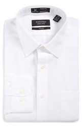 Nordstrom Men's Big And Tall Smartcare Tm Trim Fit Solid Dress Shirt White 1