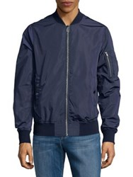 Cult Of Individuality Reversible Camo Mesh Jacket Navy