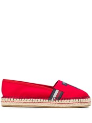 Tommy Hilfiger T Patch Espadrilles Red
