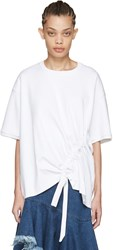 Marques Almeida White Side Cord T Shirt