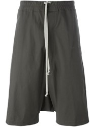 Rick Owens Drawstring Shorts Grey