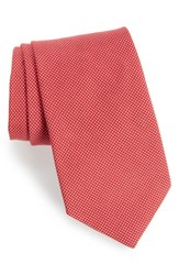 Southern Tide Dapper Dots Cotton And Silk Tie Red